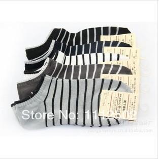 2014 Freeshipping 5pairs/lot sale High-grade bamboo fiber ship socks stripe Summer thin male socks Antibacterial deodorant 6262(China (Mainland))