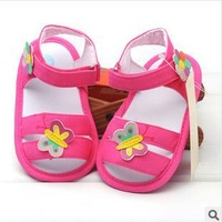 original brand fashion summer infant toddler new born baby girl first walkers ROSE bow princess soft sole 11-12-13cmF013