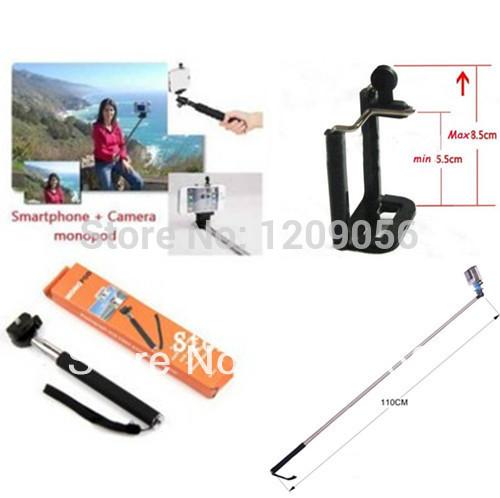 Gopro Handheld Monopod 2ni1 1PCS Camera Tripod Mobile phone Monopod + 1PCS cellphone holder for i9300 i9500 n9006 n7100 DV(China (Mainland))