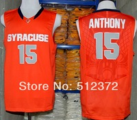 Free Shipping! #15 Carmelo Anthony 2014 new Syracuse University orange jersey  Embroidered logo( all name, numbers stitched )