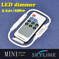 10% ,20% ,40% ,60% ,80% ,100% level brightness adjust mini led dimmer ,with DC socket ,DC5-24v support ,288w max output