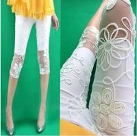 2014 summer maternity clothing belly pants capris fashion lace adjustable maternity pants legging