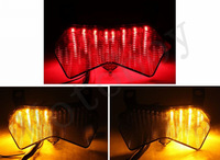 Smoke Integrated LED Tail Light For Kawasaki ZX6R ZX6RR ZX6R-636 2003 2004