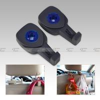 Tracking number#New Black Fashion Portable Car Auto Seat Hanger Purse Bag Organizer Holder Hook Headrest 2Pcs-CA01755-B