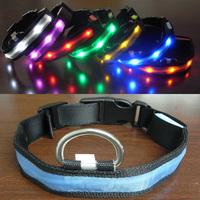 Led strip pet collar light beads collar dog collar large dog highlight the dog pet supplies