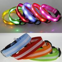 2.5cm lights with stripe led lights dog collar led strip collar pet light beads collar