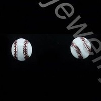2014 World Cup 1.2cm Softball Earring Stud Soft Ball Post Jewelry Sports Fans Gift