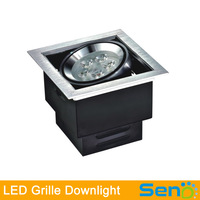 New arrival 7W 14W 21W Grille LED Light with Brushed silver/White color 100% high quality guaranteed 1pcs/lot