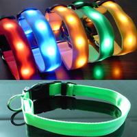 Pet collar led collar dog collar led flashing dog collar light beads dog ring large dog collar collapsibility