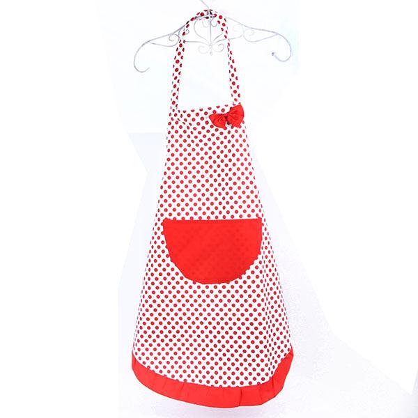 cute dots pattern pocket restaurant home kitchen bib apron