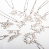 KPOP EXO Rhinestone Necklace Fashion 12 Member Personal Symbols Luhan Sehun Kris Kai