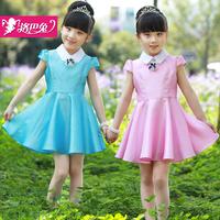 girl dress Children's clothing female child summer 2014 female child dresses one-piece dress child princess dress