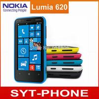 Original Unlocked Nokia Lumia 620 windows phone 8 Mobile phone Dual core 8GB Storage WIFI GPS cell phone