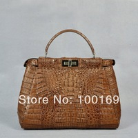 Genuine women Crocodile handbag_crocodile leather handbag_crocodile lady bag