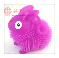 Fee shipping Wholsale 10PCS Magical shinerabbit  Robot Fish Activated Turbot Electronic Toys Electric rabbits