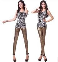2014 new Sell like hot fashion sexy toning High elastic Imitation leather Snake pattern Women leggings leisure trend Ms pants