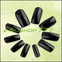 1500PCS/LOT EQ0060 Fashion Salon Fake False Full Nail Art Tips Black