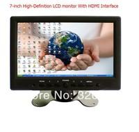 China-7 inch TFT LCD  PC monitor with HDMI VGA  Resistive touch screen Black  Car Monitors  FREE SHIPPING