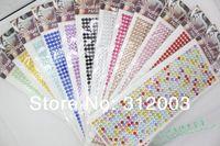 DIY car diamond 5pcs/lot rhinestone stickers mobile post car stickers car modified decoration wholesale