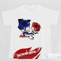 free shipping 2014 kids tshirt Taekwondo Korean pronunciation t-Shirt for children 100% cotton