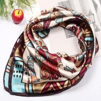 60*60cm 2014 Fashion Small facecloth silk scarf female silk scarf child scarf, muffler square Scarves hijabs