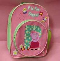 Wholesale 2014 5pcs/lot  Cute Peppa Pig Backpacks Baby School Bags preschool students Bags