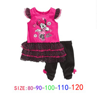 Free shipping! Wholesale 5 sets/lot. Girls Leisure sets (T-shirt + pants). Cartoon suits.Girl sport suit. kids clothes sets.