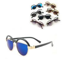 Summer new arrival 2013 lens semi-cirle glasses chromophous style personality avant-garde