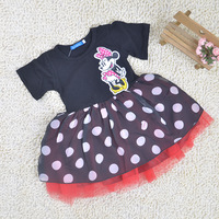 Summer new arrived Minnie mouse polka dots girl dress/Lovely girls clothing