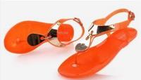 Free Shipping Fashion flip flops rhinestone slippers summer 2014 flat crystal jelly shoes