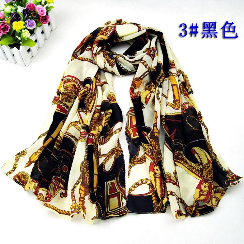 Wholesale 3 colors 160*50cm spring 2014 new flower fashion chiffon scarf Very silk scarves shawl women echarpes lencos aw15(China (Mainland))