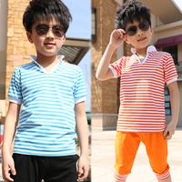 Children t shirts boys t shirt children outerwear boys clothing 2014 summer short-sleeve T-shirt child sports set free shipping