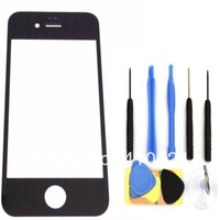Front Screen Glass Lens Repair Replacement for Apple iPhone 4G 4 Black+ Tools
