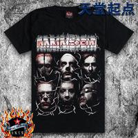 New men short sleeve T-shirt loose large size rock band Rammstein German tanks