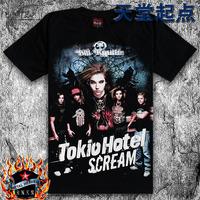 Black short-sleeve T-shirt personality novelty tokio hotel