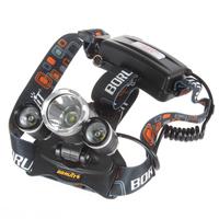 Boruit JR-3000 5000 Lumens 3X CREE XM-L T6 LEDs Led Headlight 4 Modes Waterproof Bicycle Motorcycle LED Headlamp