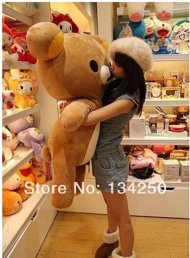 80cm 31'' San x Rilakkuma Relax Bear Stuffed 100 Cotton Soft Pillow Plush Cute Doll Toy Free Shipping(China (Mainland))