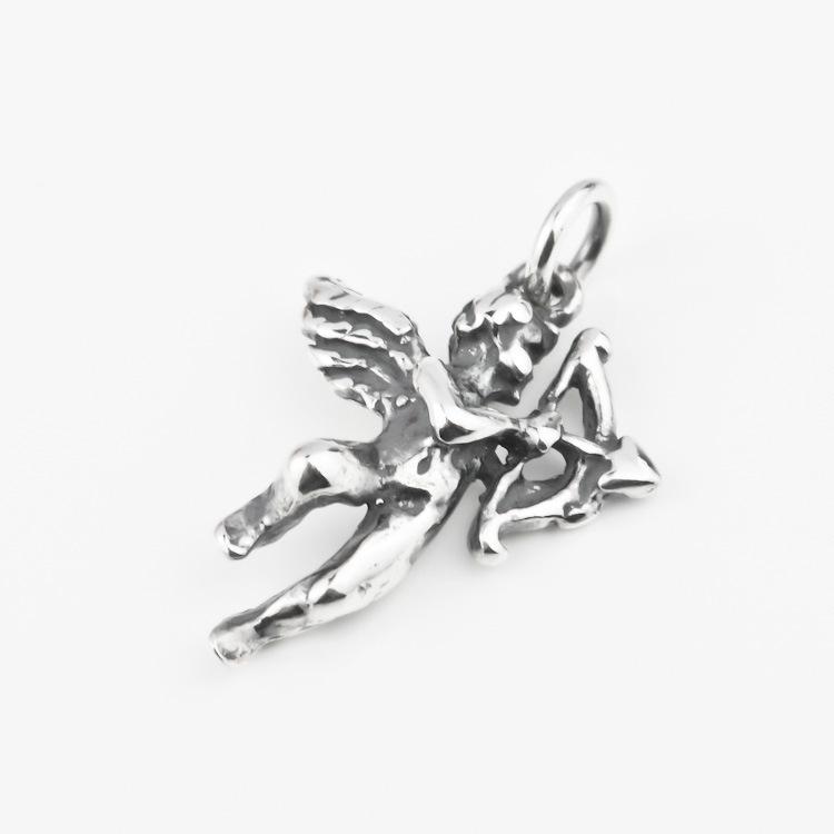 925 sterling silver Angel shape necklace pendant DIY necklace pendant Cupid pendant