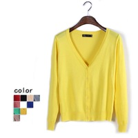 Autumn NEW BRAND Knitted Sweater Women bowknot Large size Loose long sleeves Cardigan Sweater, Free shipping