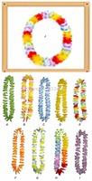 Free shipping 2014 New weeding decoration 10pcs/lot hawaiian Flower lei Garlands Hawaiian/Tropical Party Fancy Dress Necklace