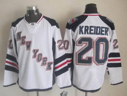 Hot Sell New York Rangers Stadium Series Mens Jerseys #20 CHRIS KREIDER White Ice Hockey Jerseys,Size M-3XL,Embroidery Logos(China (Mainland))
