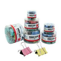 Lackadaisical deli 8556 multicolour binder clips dovetail clip 15mm anti-tail clip multicolour small clip