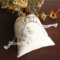 W20xH24cm linen  muslin small gift bags for kids free shipping by fedEx, DHL or UPS