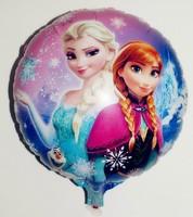 wholesale 100pcs/lot 18inch round Frozen balloon for party decoration Aluminium foil balloon 45*45cm helium baloon free shipping