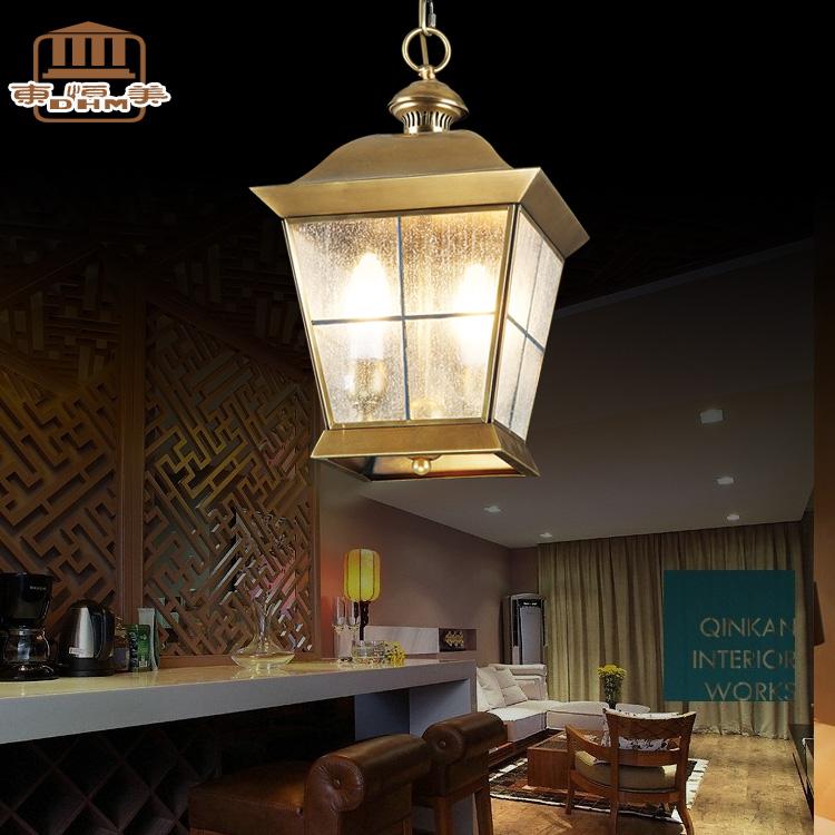 Copper pendant light fashion american vintage copper lamp decoration lighting lamps(China (Mainland))