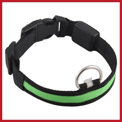 buywise Nylon LED Dog Night Safety Pet Collar Flashing Light Up Pendant Collar Rope Worldwide free shipping(China (Mainland))