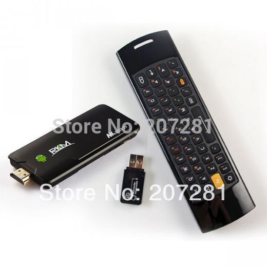 Rikomagic MK802 IV Android 4.2 Quad Core RK3188 2GB RAM A9 1.8GHz MINI PC TV MK802IV + Mele F10 Fly Air Mouse Wireless Keyboard(Hong Kong)