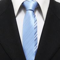 Mens Popular Stylish Striped Sky Blue Woven Neckties For Men Slim Casual Novelty Ties Gravatas 5CM F5-L-4