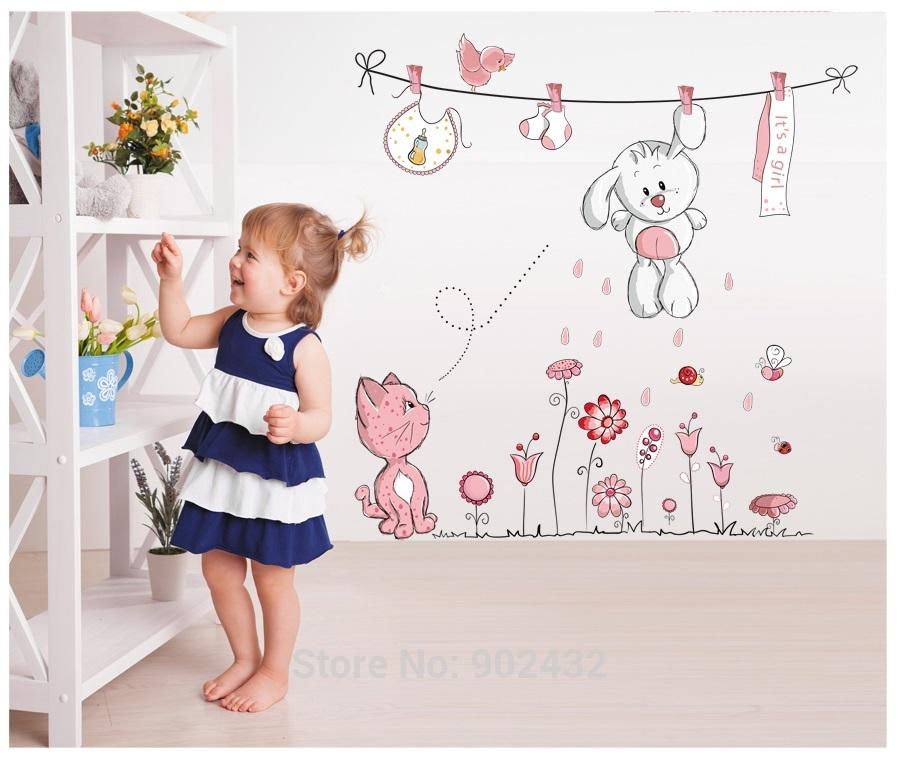 Jiaming home decoration kleine bestellingen online winkel best verkopende vinyl muursticker - Room muur van de baby ...