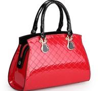 New Arrival 2014 fashion women's fashion handbag crocodile pattern japanned leather patent leather handbag female ol bags
